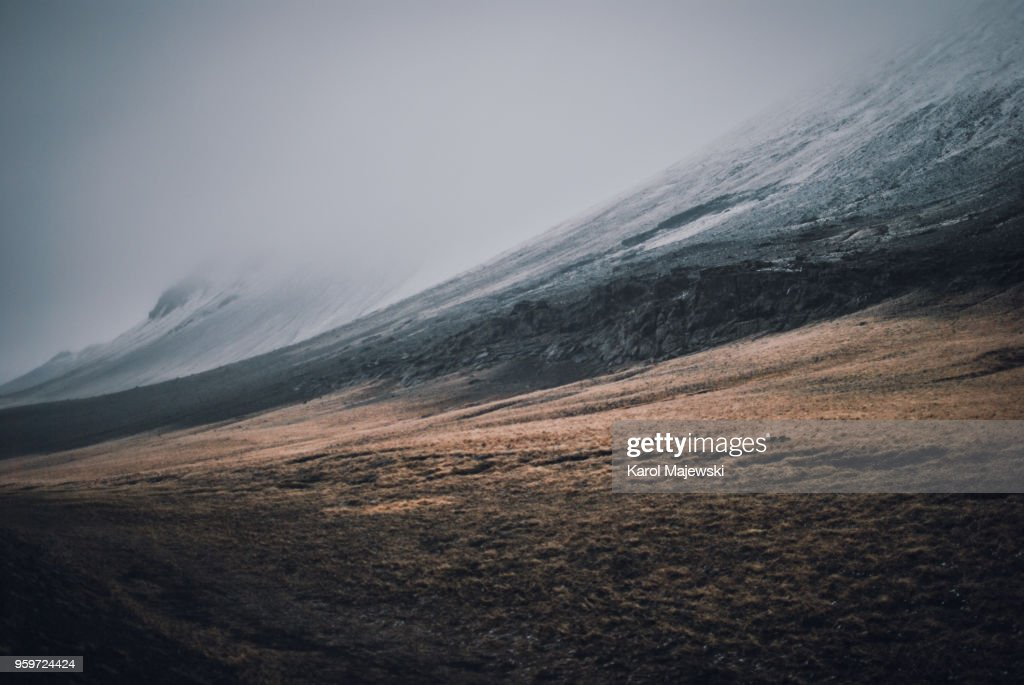 Fresh snow in Iceland : Stock-Foto