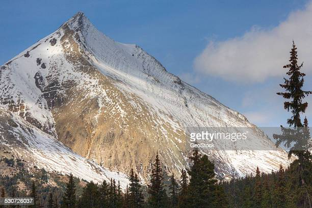 fresh snowfall on a mountain - calm before the storm stock pictures, royalty-free photos & images