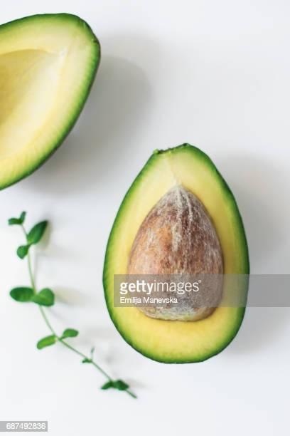 Fresh split Avocado