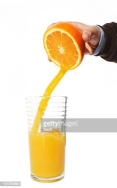 fresh squeezed, juicy orange
