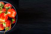 strawberry basket dessert food