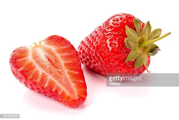Fresh strawberries, isolated on white background