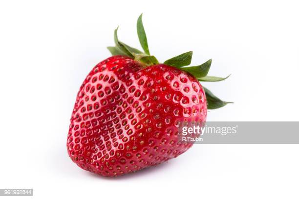 fresh strawberries were placed on a white background - strawberry stock pictures, royalty-free photos & images