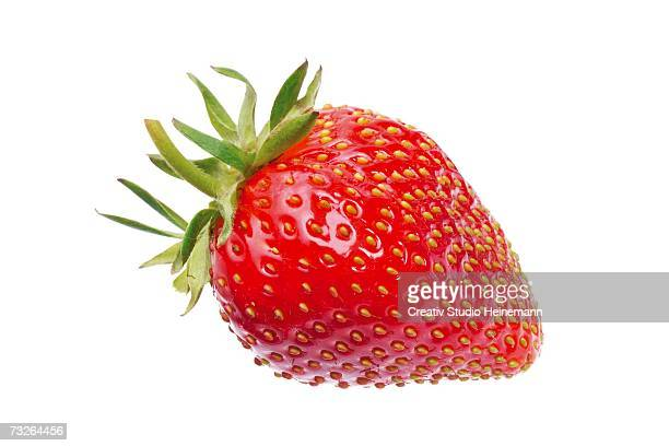 fresh strawberry, close-up - strawberry stock pictures, royalty-free photos & images
