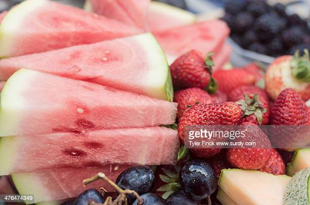 fresh summer fruit - sursly stock pictures, royalty-free photos & images
