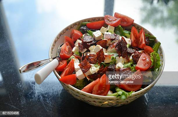 Fresh summer salad in a bowl