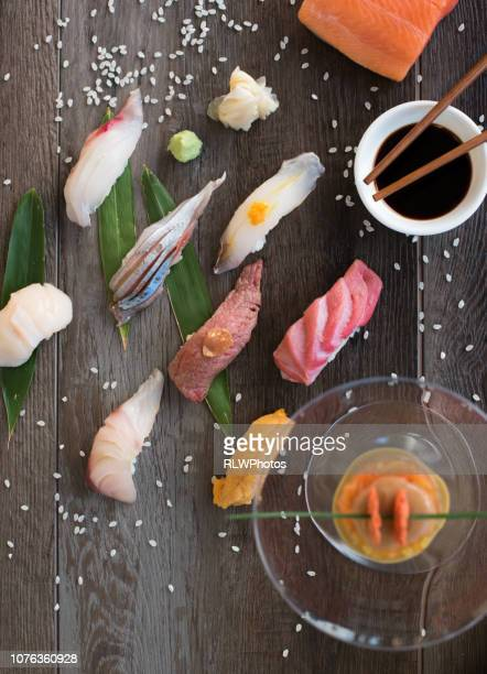 fresh sushi - wasabi stock pictures, royalty-free photos & images