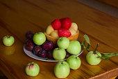 fresh sweet fruits on a plate