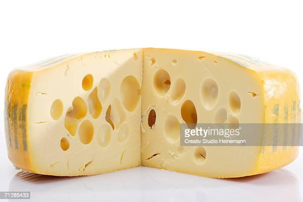 Fresh Swiss cheese, close-up