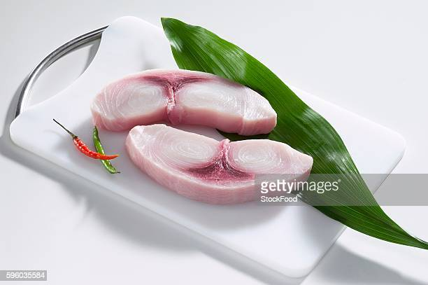fresh swordfish steaks - swordfish stock pictures, royalty-free photos & images