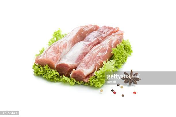 Frische Rinderfilet mit Schweinefleisch