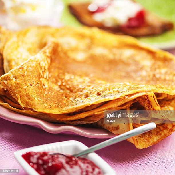 Des pancakes, des crêpes fines
