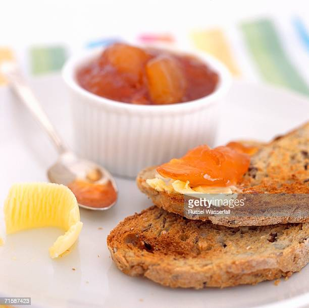 Fresh Toast with Apricot Jam