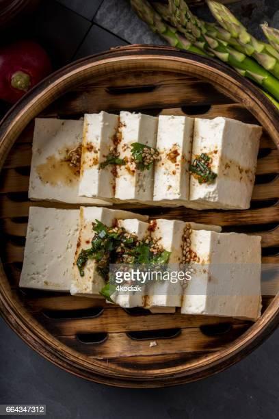 Tofu frais avec la Sauce de soja