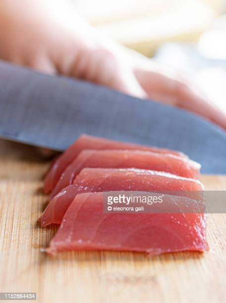fresh tuna - bluefin tuna stock pictures, royalty-free photos & images