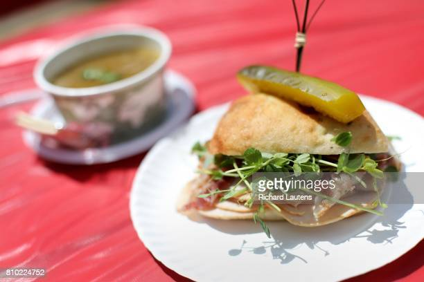TORONTO ON JUNE 21 A fresh turkey and greens sandwich and Dahl soup For weekly newbusiness profile Jagger Gordon is the chef and owner of Soup Bar by...