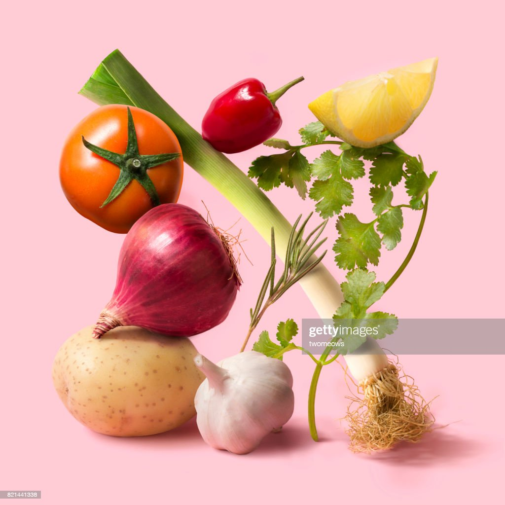 Fresh uncooked vegetable still life. : Stock-Foto