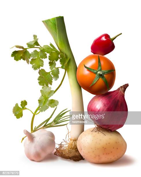 Fresh uncooked vegetable still life.