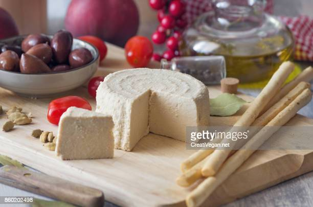 Fresh vegan soy cheese