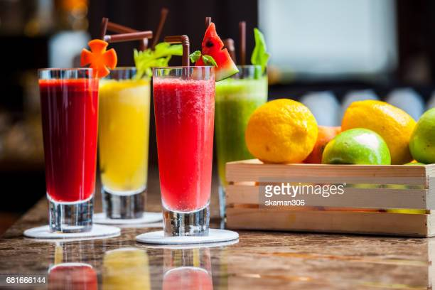 Fresh Vegetable juice and organic fruit