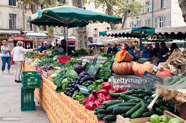 Fresh Vegetables at a French Market