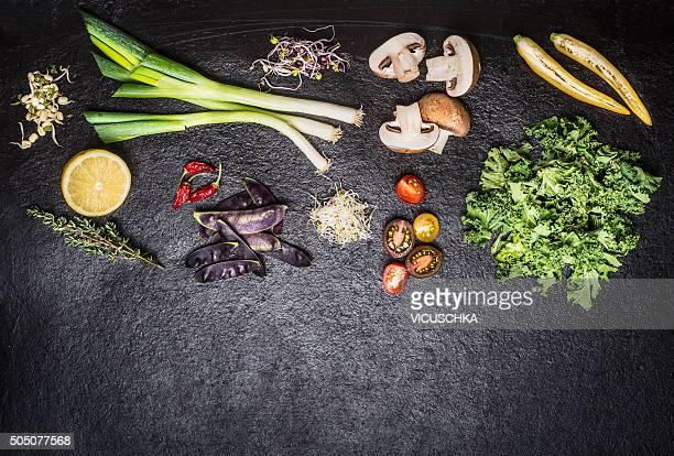 Fresh vegetables for salad or cooking