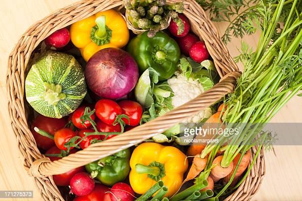 Fresh Vegetables: in a basket