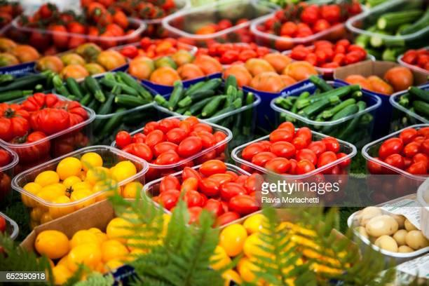 Fresh vegetables in Campo di Fiore street market, Rome