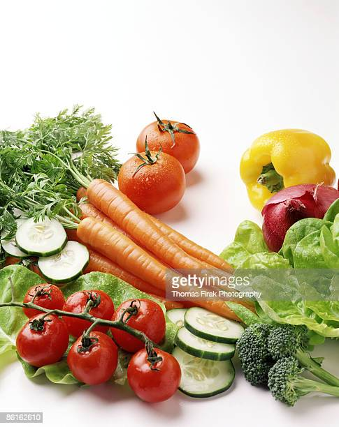 fresh vegetables on white -  firak stock pictures, royalty-free photos & images