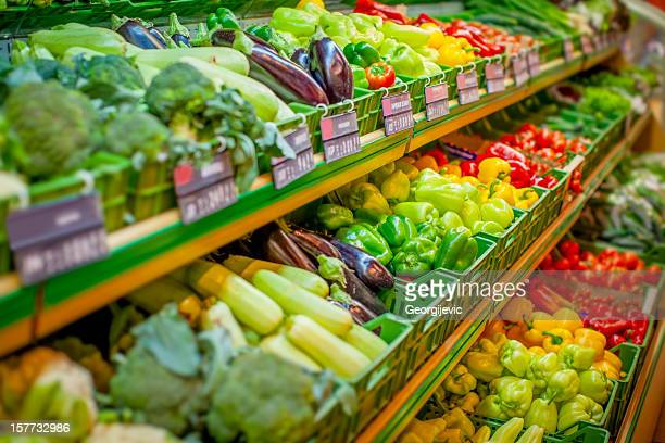 fresh vegetables - groceries stock pictures, royalty-free photos & images