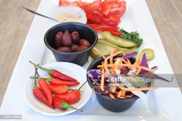 fresh vegetables platter - rafael ben ari bildbanksfoton och bilder