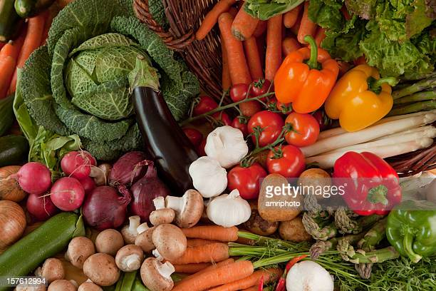 fresh vegetables top view close