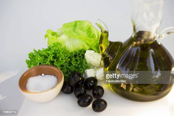 Fresh vegetables with olive oil