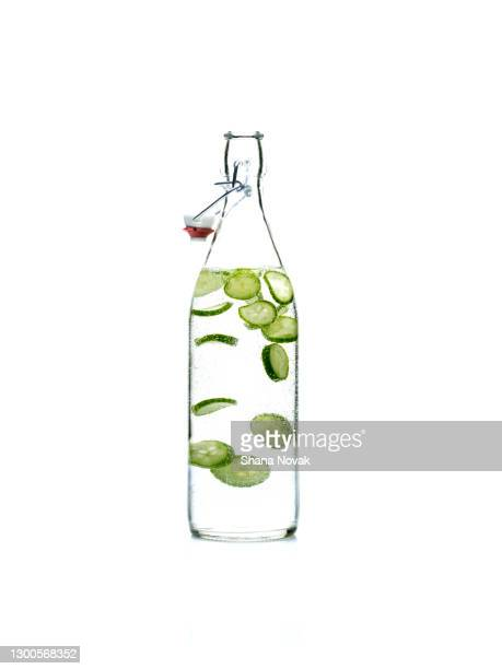 "fresh water flavored with cucumber - ""shana novak"" stock pictures, royalty-free photos & images"