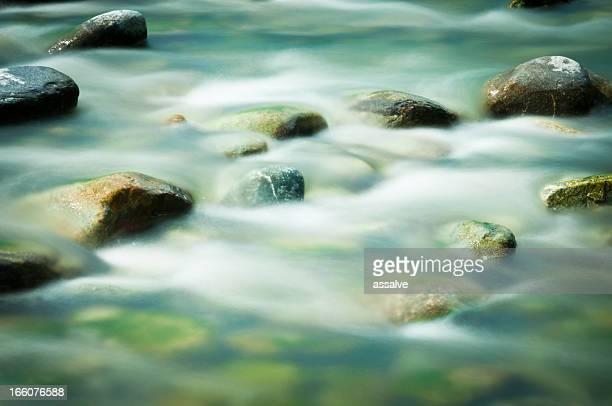 fresh water in an alpine river