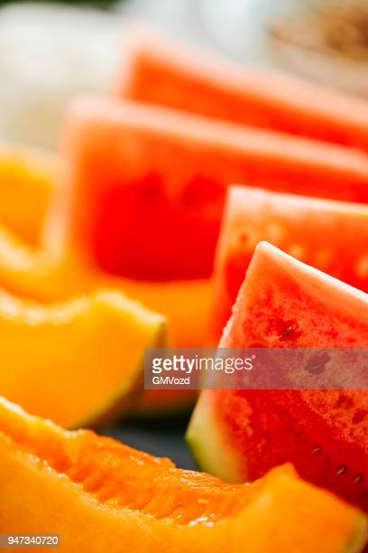 Fresh Watermelon and Honeydew Melon
