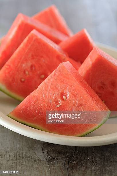 Fresh watermelon wedges