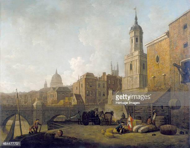 'Fresh Wharf London Bridge' c1762 The wharf was constructed after the Great Fire of London of 1666 to facilitate the activities of the Port of London...