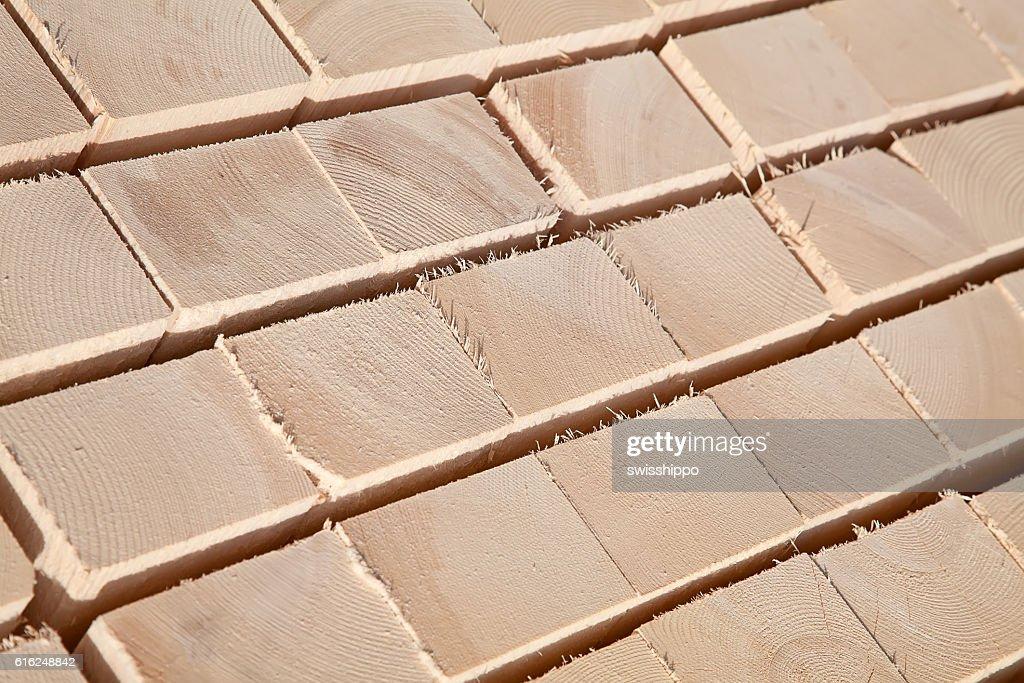 Frische Holz Nieten  : Stock-Foto
