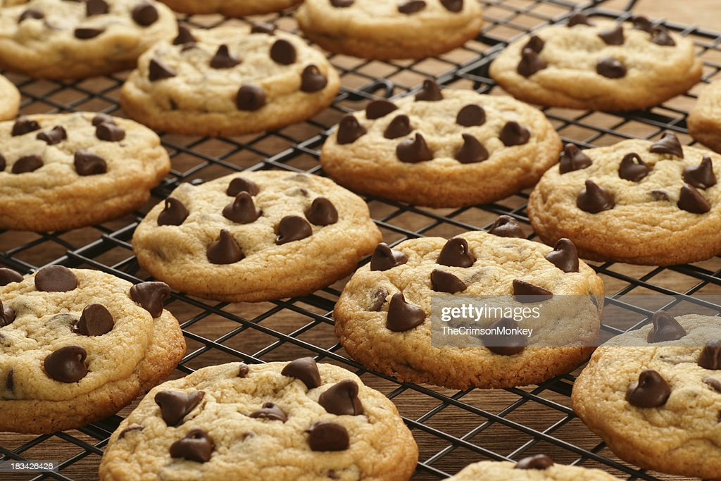 Freshly Baked Chocolate Chip Cookies : Stock Photo