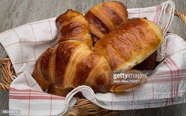 freshly baked croissants home made - jean marc payet stock pictures, royalty-free photos & images