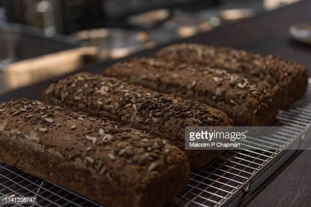 Freshly baked Nordic Sourdough Rye Bread loaves