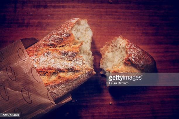 Freshly baked rustic bread