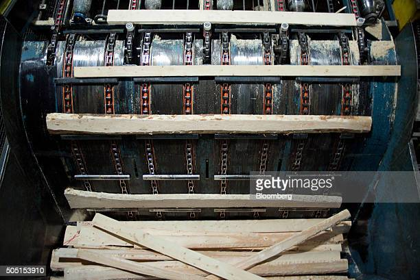 Freshly cut lumber moves through the saw mill at the Resolute Forest Products facility in Thunder Bay Canada Ontario on Friday Jan 8 2016 Resolute...