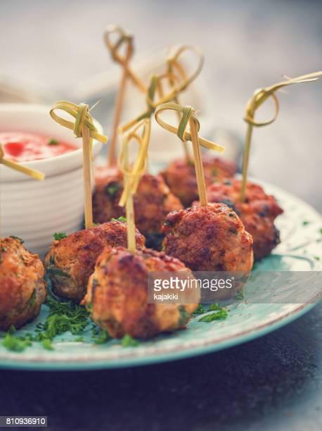 Boulettes de viande fraîchement frit