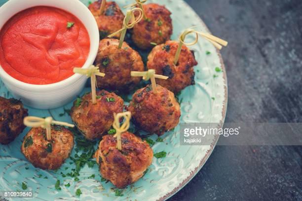 Freshly Fried Meatballs