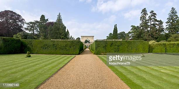 freshly greenery in front of home estate - castle stock pictures, royalty-free photos & images
