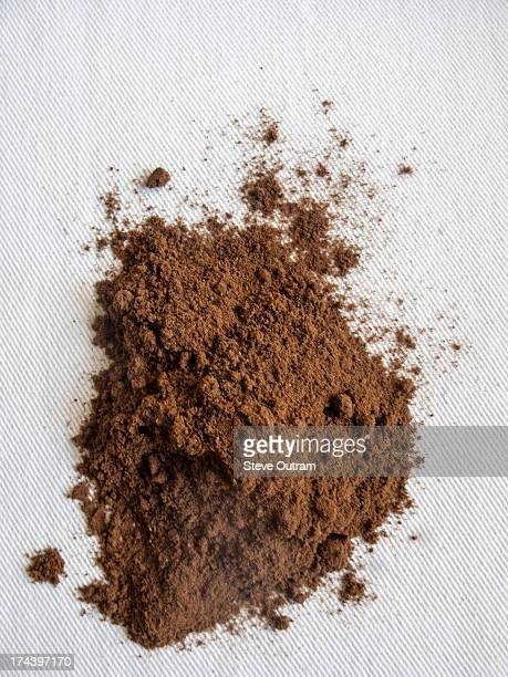 freshly ground greek coffee - ground coffee stock photos and pictures