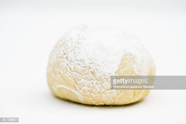 Freshly kneaded ball of dough, close-up