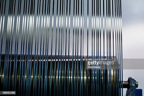 Freshly made carbon fiber is seen at the SGL Automotive Carbon Fibers manufacturing plant in Moses Lake Washington US on October 9 2013 The US Census...